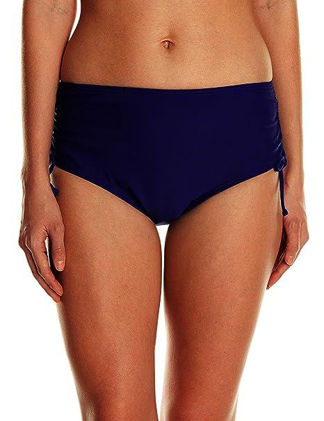 c40c347ff84f72 Ducone Women s Side Shirred Adjustable High Waist Bikini Bottom Navy Blue  Size XX-Large
