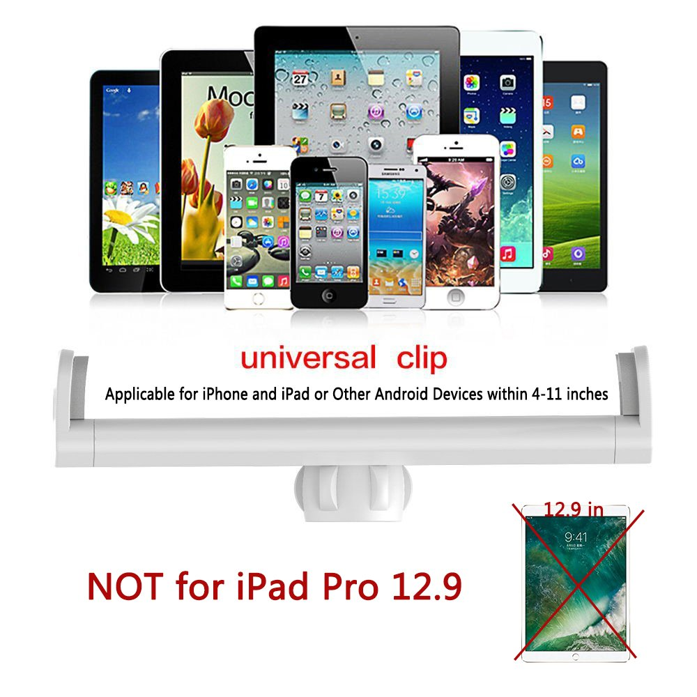 Spessn 360 Degrees Rotation Ajustable Mount Holder Extendable Stand for Apple iPad Air iPad mini iPad Pro Samsung Tab and Phones Universal Tablet Stand for Bed