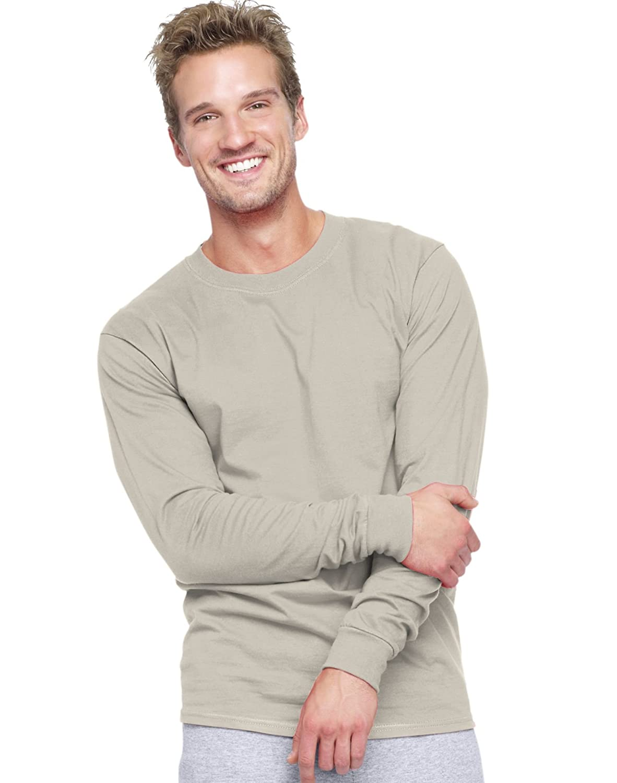 7d94c50a Hanes Beefy T Long Sleeve T Shirt | Top Mode Depot