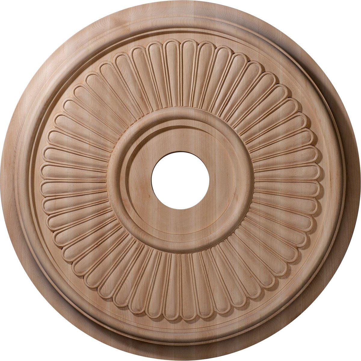 Ekena Millwork CMW24BERO Ceiling Medallion 24''OD x 3 7/8''ID x 2 1/4''P Red Oak