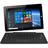 NINETEC Ultratab 10 Pro Convertible Tablet PC 2in1 Windows 10 + Android Ultradünnes Vollaluminium Gehäuse Schwarz
