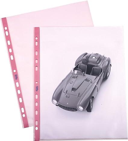 Favorit 100206799 Busta a Foratura Universale Tinta P@stel Formato Interno 22X30 cm Colore Rosa Confezione da 25 Pz.