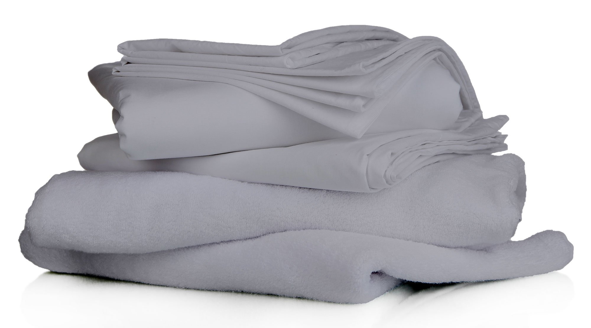 TOT AMERICA 100% Premium HOTEL LIKE Quality Soft EGYPTIAN Cotton ITALIAN FINISH MADE IN USA Sheet Set 600 TC Fits Up to 19 Inches Deep Pocket Solid (King, Silver Grey)