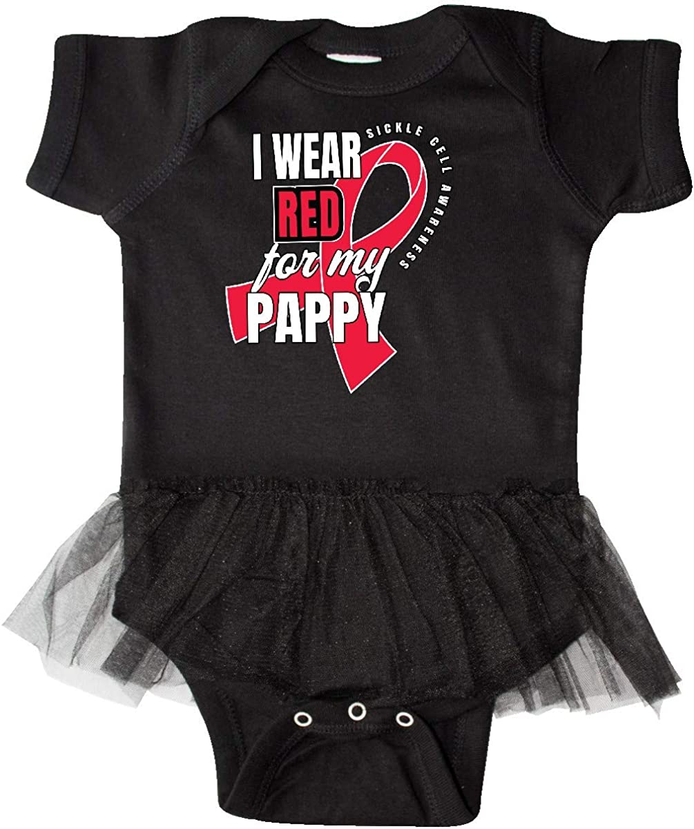 inktastic Sickle Cell Awareness I Wear Red for My Pappy Infant Tutu Bodysuit
