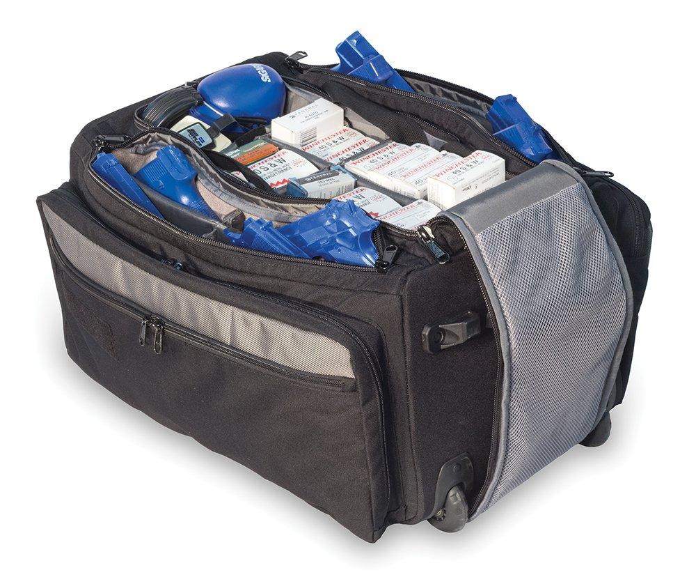 Elite Survival Systems Range Roller Rolling Range Bag Elite Survival Systems 9010-B Range Roller Rolling Range Bag Black/Gray, 21''X13''X11''