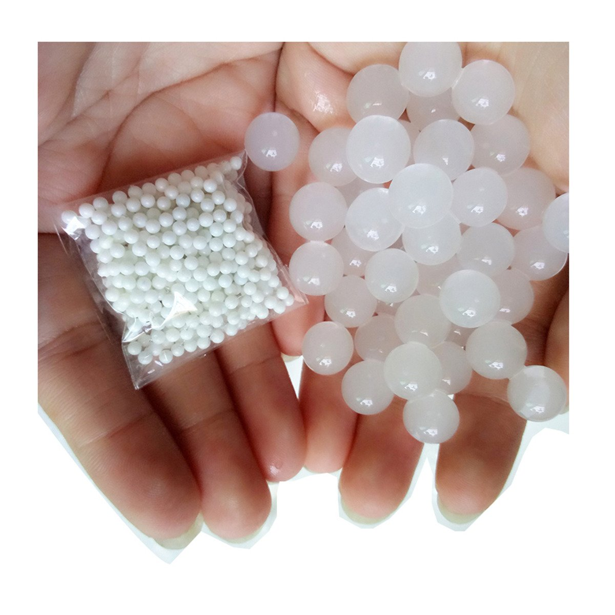 LKXHarleya 5000pcs Non-toxic Water Beads Reusable Growing Jelly Gel Balls for Vases,Kids Sensory Toys,Decor,White