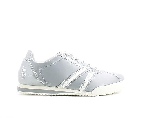 U.S.POLO ASSN. - Zapatillas para Mujer Plateado Plateado Plateado ...