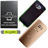 CELL4LESS Compatible Back Glass Cover Back Door w/Installed Camera Lens, Custom Removal Tool & Installed Adhesive…