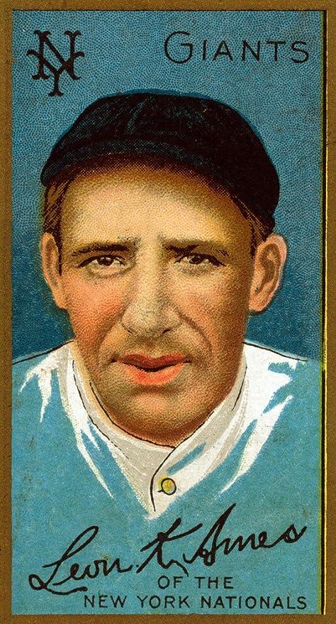 Amazoncom New York Giants Leon Ames Baseball Card 16x24