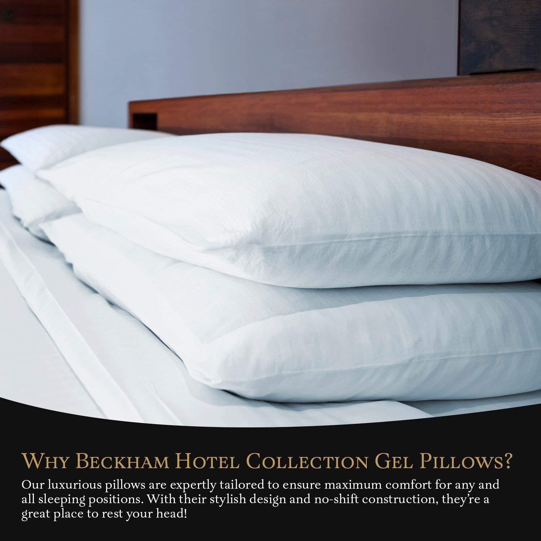Beckham Hotel Collection Gel Pillow (2-Pack) - Luxury Plush Gel Pillow - Dust Mite Resistant & Hypoallergenic - Queen by Beckham Luxury Linens (Image #5)