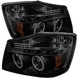 Spyder Auto PRO-YD-NTI04-CCFL-BSM Nissan Titan LED Halo Projector Headlight