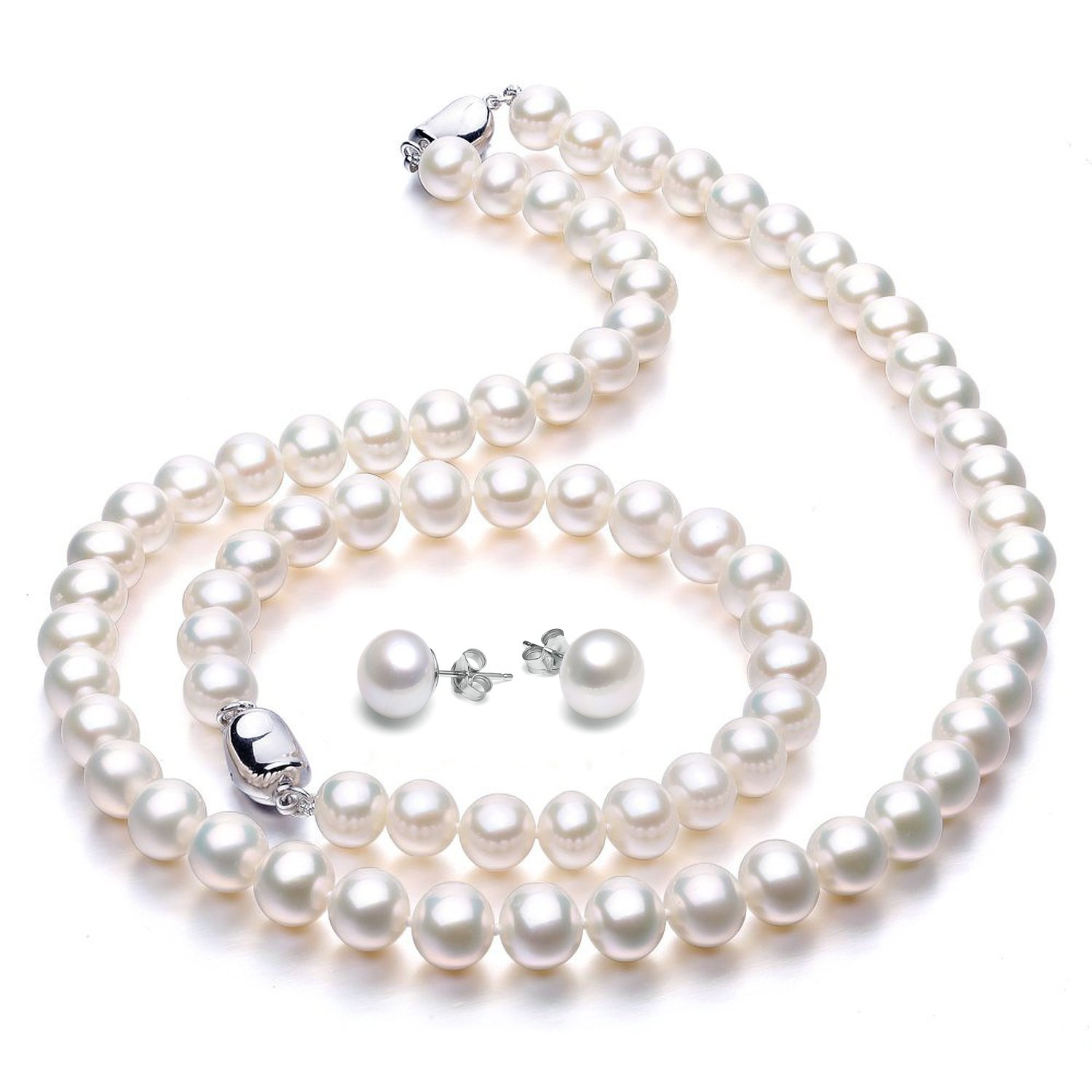 pearl laguna freshwater fw white necklace