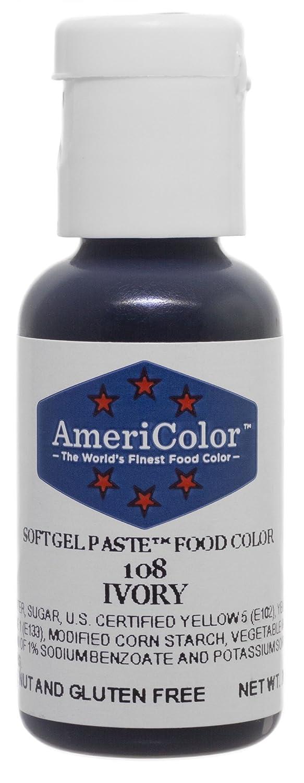 Amazon.com: Americolor Soft Gel Paste Food Color, .75-Ounce, Ivory ...