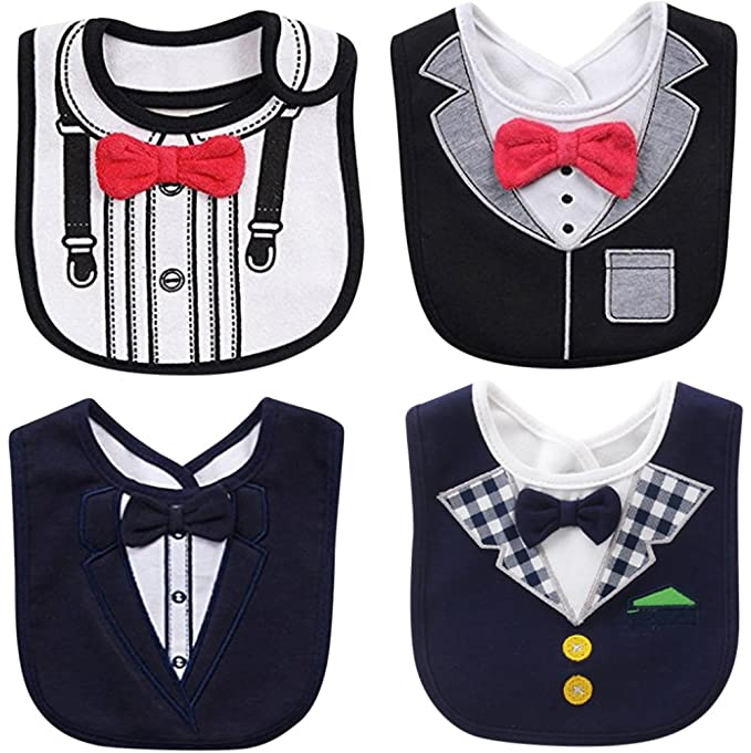 8076b2908c09 Amazon.com: FANCYBIBS Baby Boy Girl Drool Drooling Bibs Tuxedo Bowtie Bow  Neck Tie Burp Cloths Unisex (Bow Tie Bibs): Clothing
