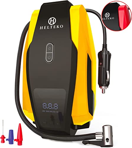 Helteko Portable Air Compressor Pump 150PSI 12V - Digital Tire Inflator - Auto Tire Pump