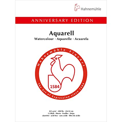 amazon com hahnemuhle anniversary edition 425gsm watercolour block