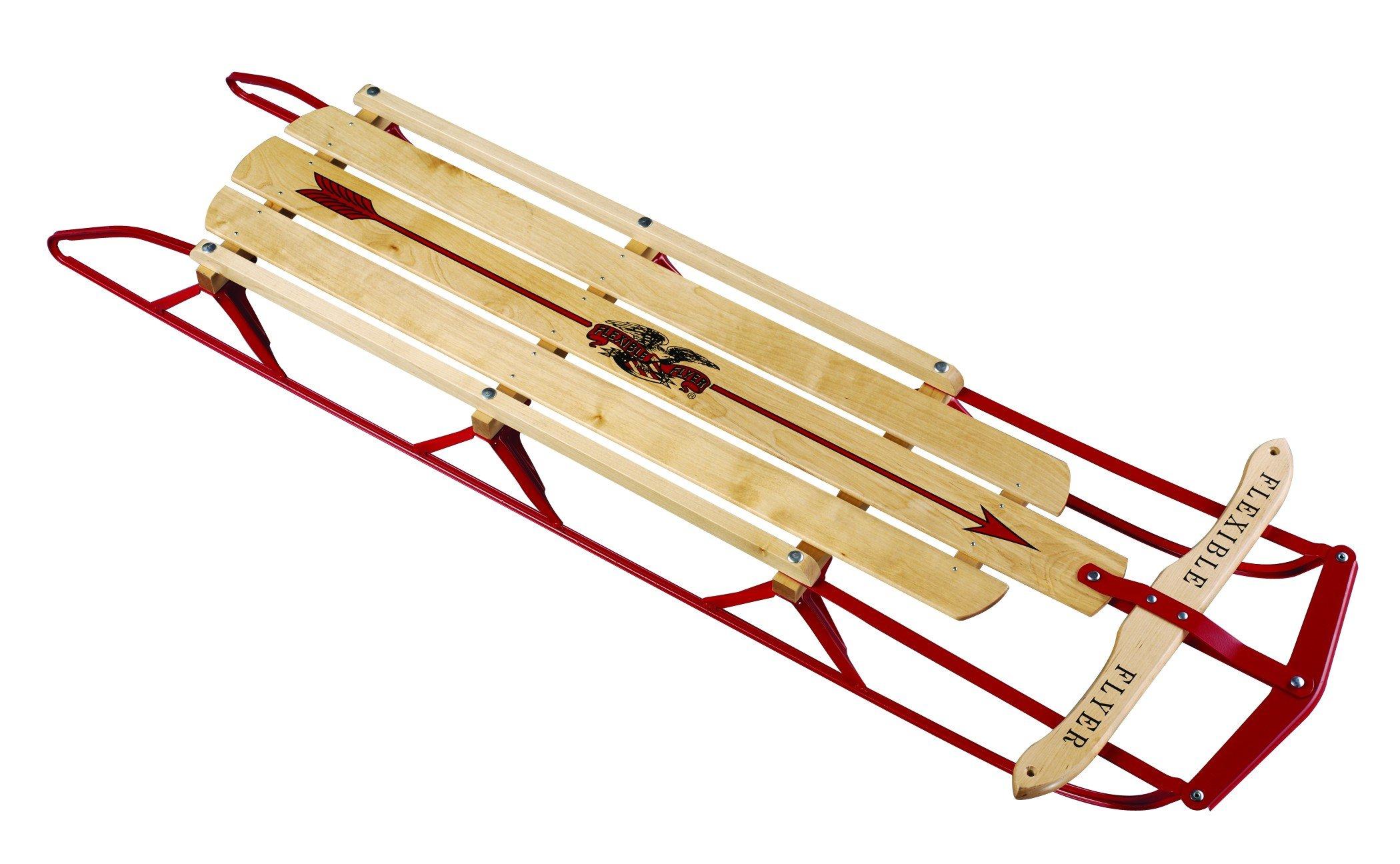 Flexible Flyer 60 Inch Steel Runner Sled, Beige by Flexible Flyer