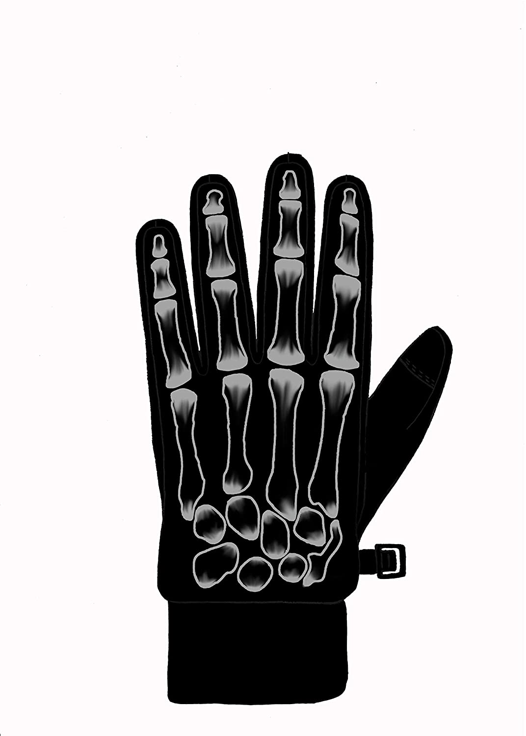 NIce Caps Boys Plush Lined Breathable Skeleton Stretch Lightweight Gloves
