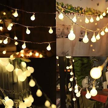 Naisidier 40 Cadena De 14pies De Luces De Led Bombilla Blanco Calido - Iluminacion-para-exteriores-jardines