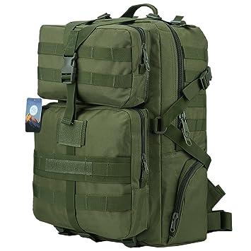 HUKOER Mochila Táctica Militar Impermeable -45L para Excursionismo Montañismo Senderismo y viaje al aire libre Macuto Militar y deportiva de alta calidad ...