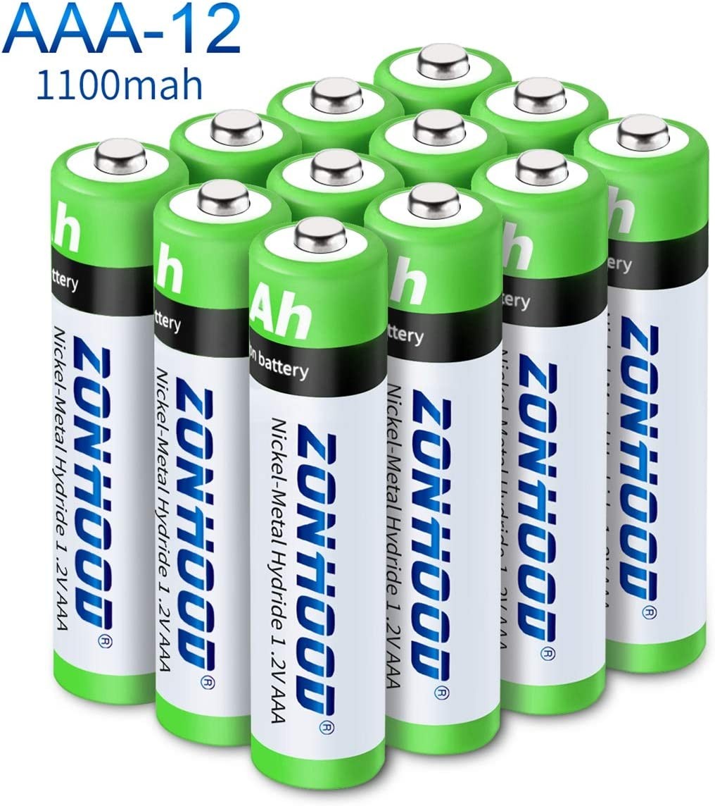 /… AAA Batteries Rechargeable AAA Batteries High-Capacity AAA Batteries Rechargeable Batteries 1100mAh 1.2V Ni-MH Low Self Discharge Lasting Power Recharge Battery 12PACK
