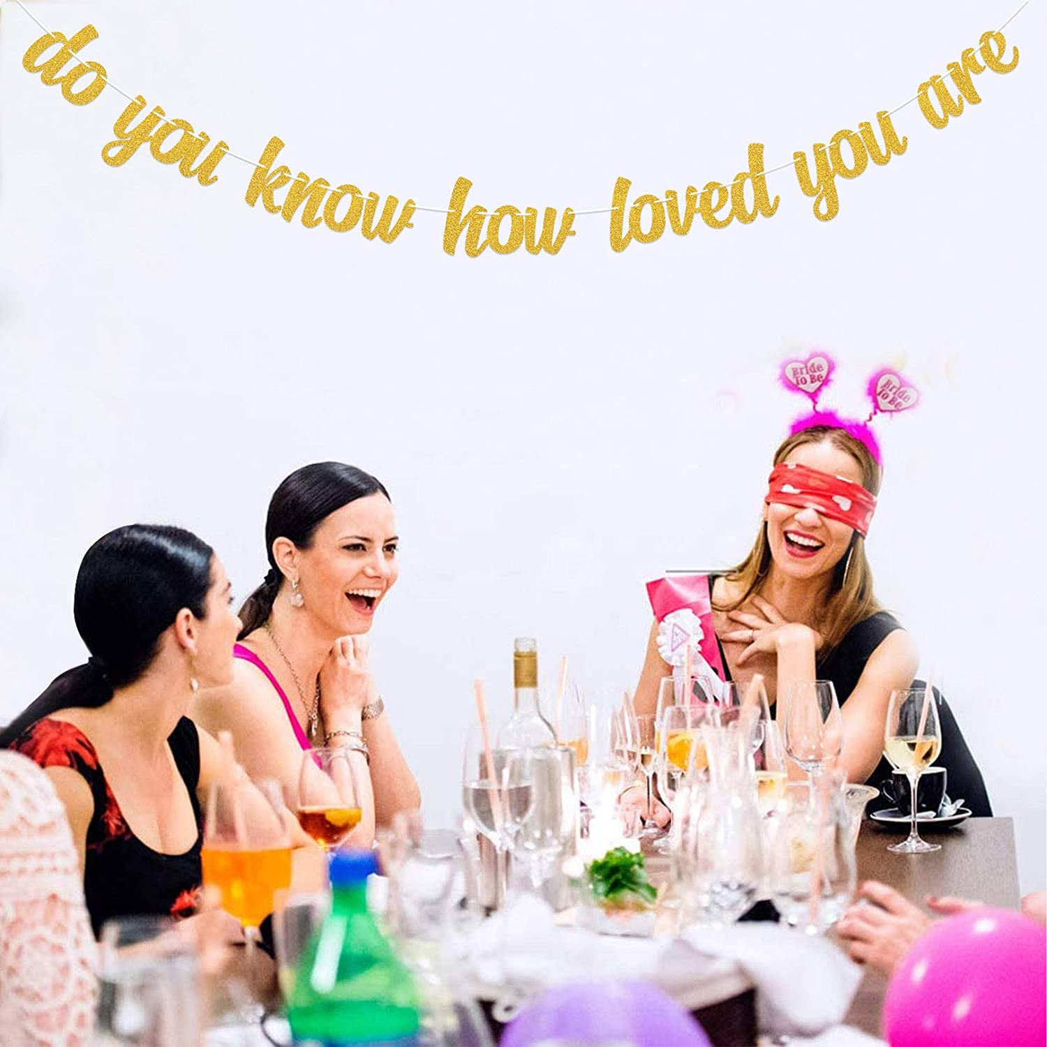 MAGBEA Do You Know How Loved You Are Banner for Baby Shower Party Decorations Baby/'s Birthday Party Supplies