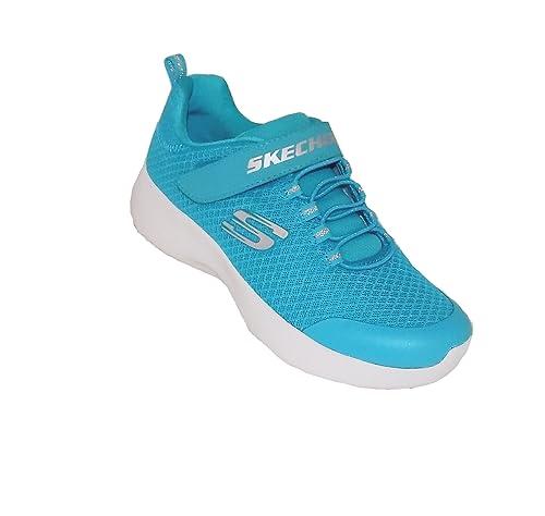 Skechers 81301L/TEAL - Mocasines de Sintético para niña Verde Grün (Türkis) 48 EU, Color Azul, Talla 29 EU: Amazon.es: Zapatos y complementos