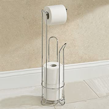Ordinaire Electroplating Stainless Steel Toilet Paper Holder Bathroom Tissue Storage  Stand