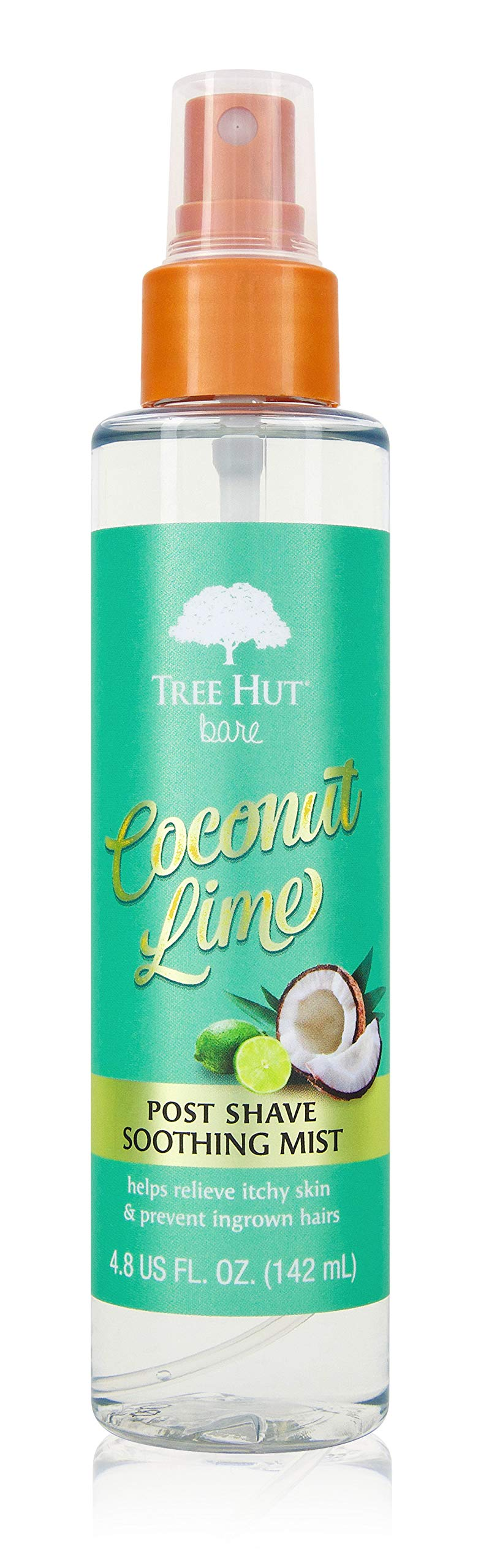 Tree Hut Bare Coconut Lime Post Shave Mist, 4.8 fl oz, After Shave Spray, Soothe & Smooth Against Razor Bumps & Ingrown Hairs, For All Skin Types