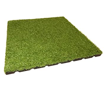 Gartenpirat Dalle Amortissante Vert Imitation Moquette 50x50