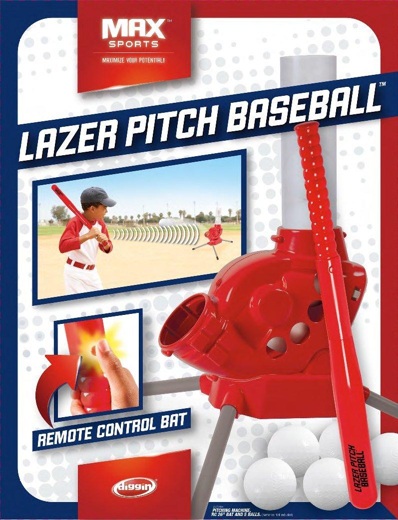 amazon com diggin lazer pitch baseball toys u0026 games