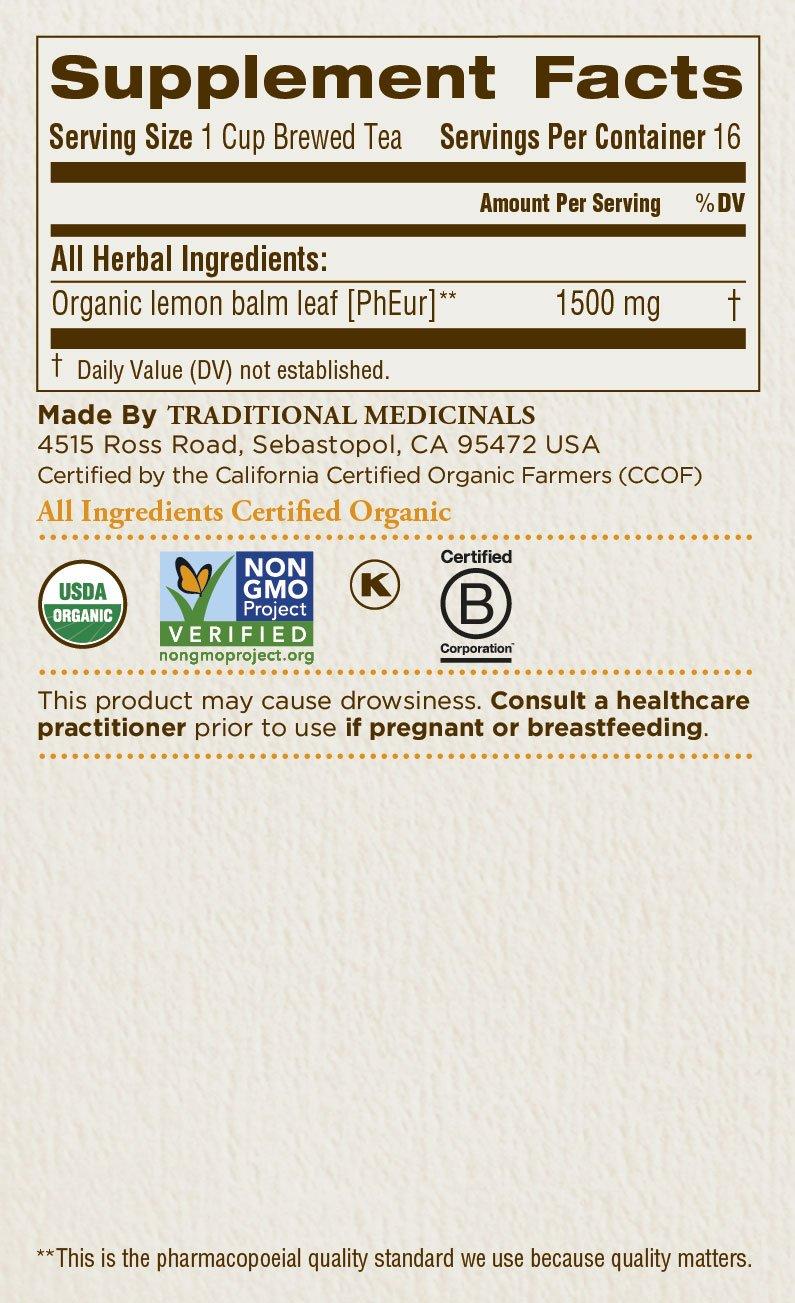 Traditional Medicinals Organic Lemon Balm Tea, 16 Tea Bags (Pack of1) by Traditional Medicinals (Image #6)