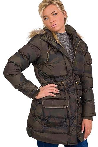 PILOT® camuflaje acolchado abrigo con capucha de impresión