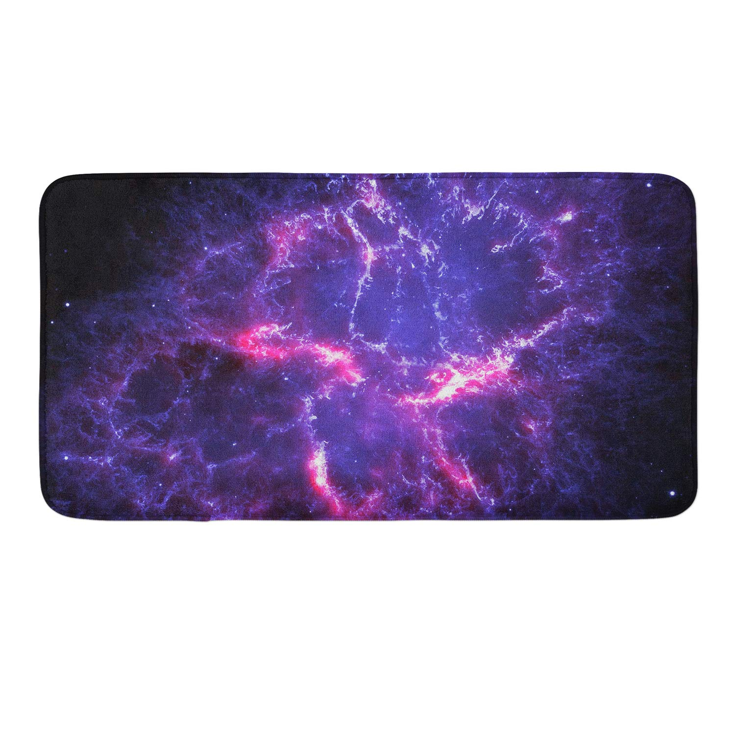 CIGOCI Non-Slip Memory Foam Bath Rugs - 18x36 Inch, Extra Absorbent,Soft,Duarable and Quick-Dry Shaggy Rugs, 3D PrintBrilliant Galaxy