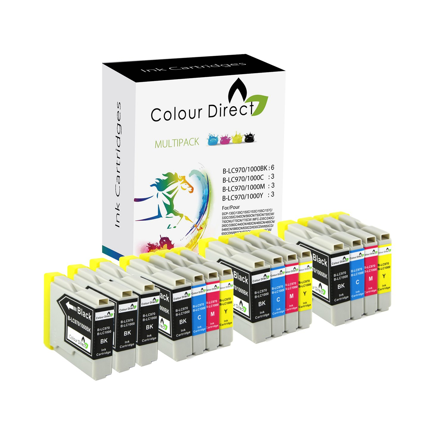 Colour Direct LC  LC Impresora Cartuchos de Tinta Para Brother DCP