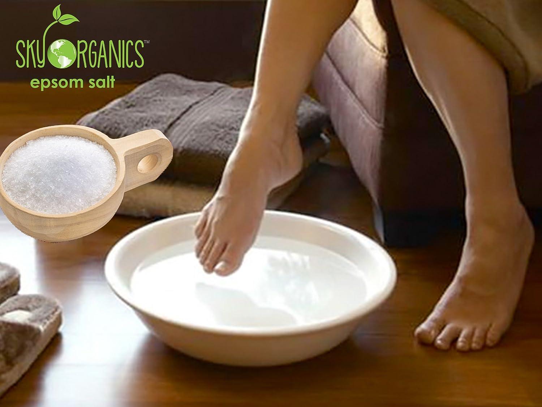 Amazon.com : Epsom Salt By Sky Organics (5 LBS)- 100% Pure Magnesium ...