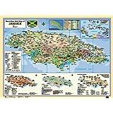 Macmillan Wall Map of Jamaica (Macmillan Caribbean Wall Maps)