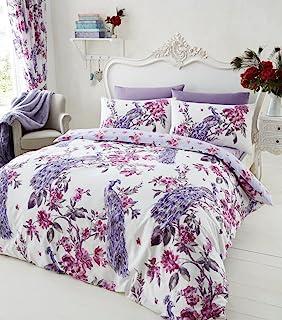 Goldstar® Peacock Purple King Size Duvet Cover Bedding Set