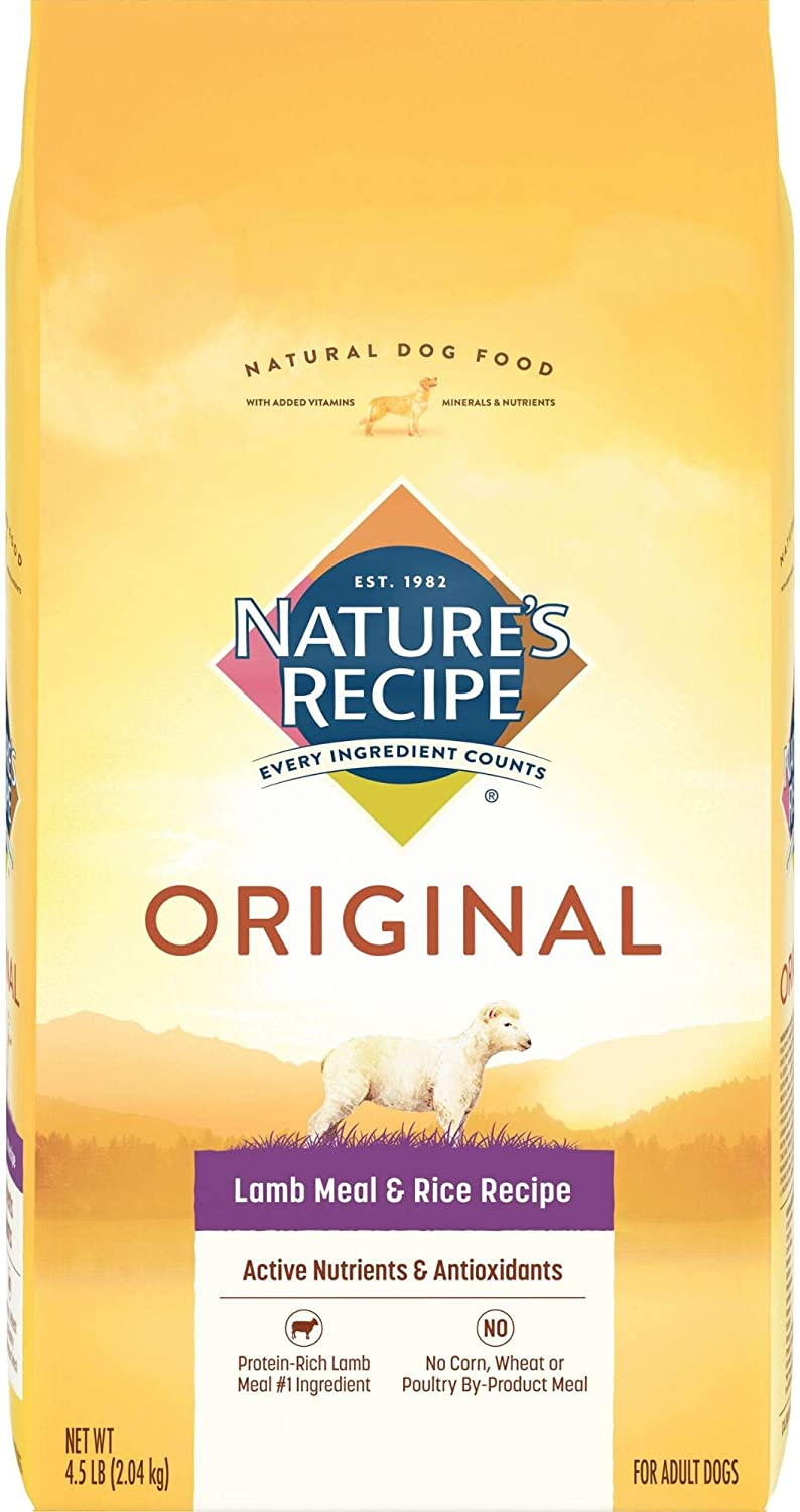 Nature's Recipe Adult Lamb Meal And Rice Dry Dog Food, 4.5-Pound