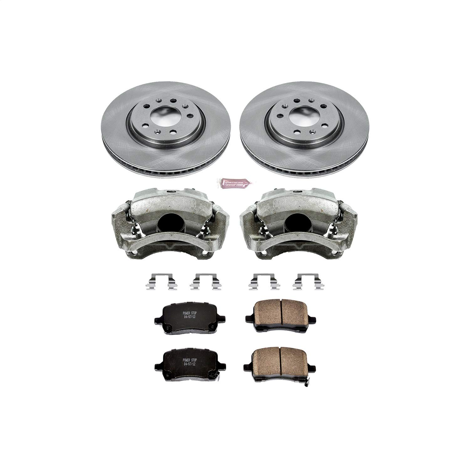 Power Stop KCOE1433 Autospecialty 1-Click OE Replacement Brake Kit with Calipers