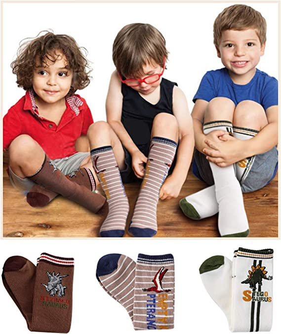Deer Mum Boys Cartoon Car Pattern Knee High Cotton Socks SOCKS-BOY-CAR