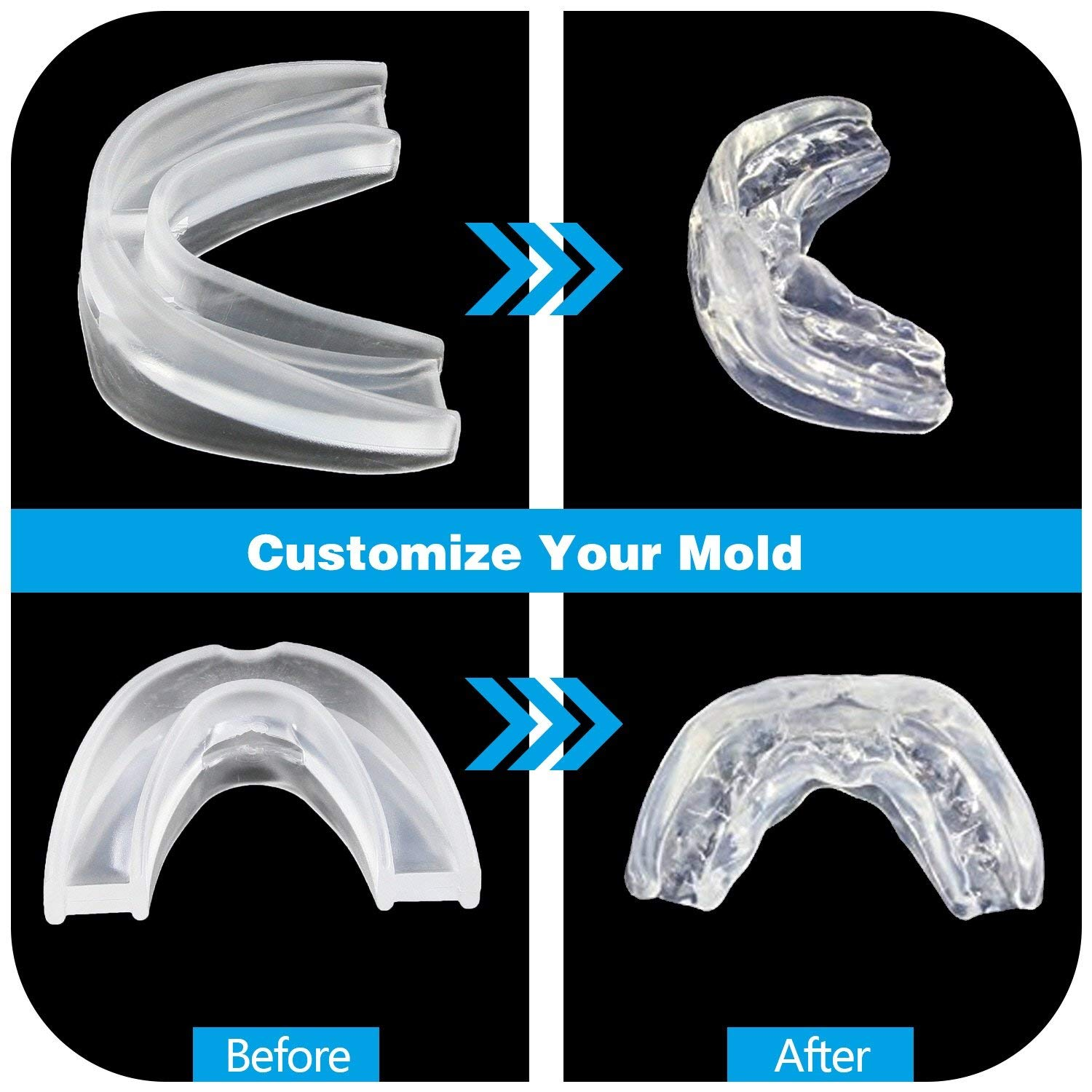 SleepMore Snore Stopper Mouthpiece-Snoring Solution Anti Snoring Devices, Sleep Aid Custom Fit Night Mouth Guard Bruxism and Snoring Solution by SleepMore (Image #4)