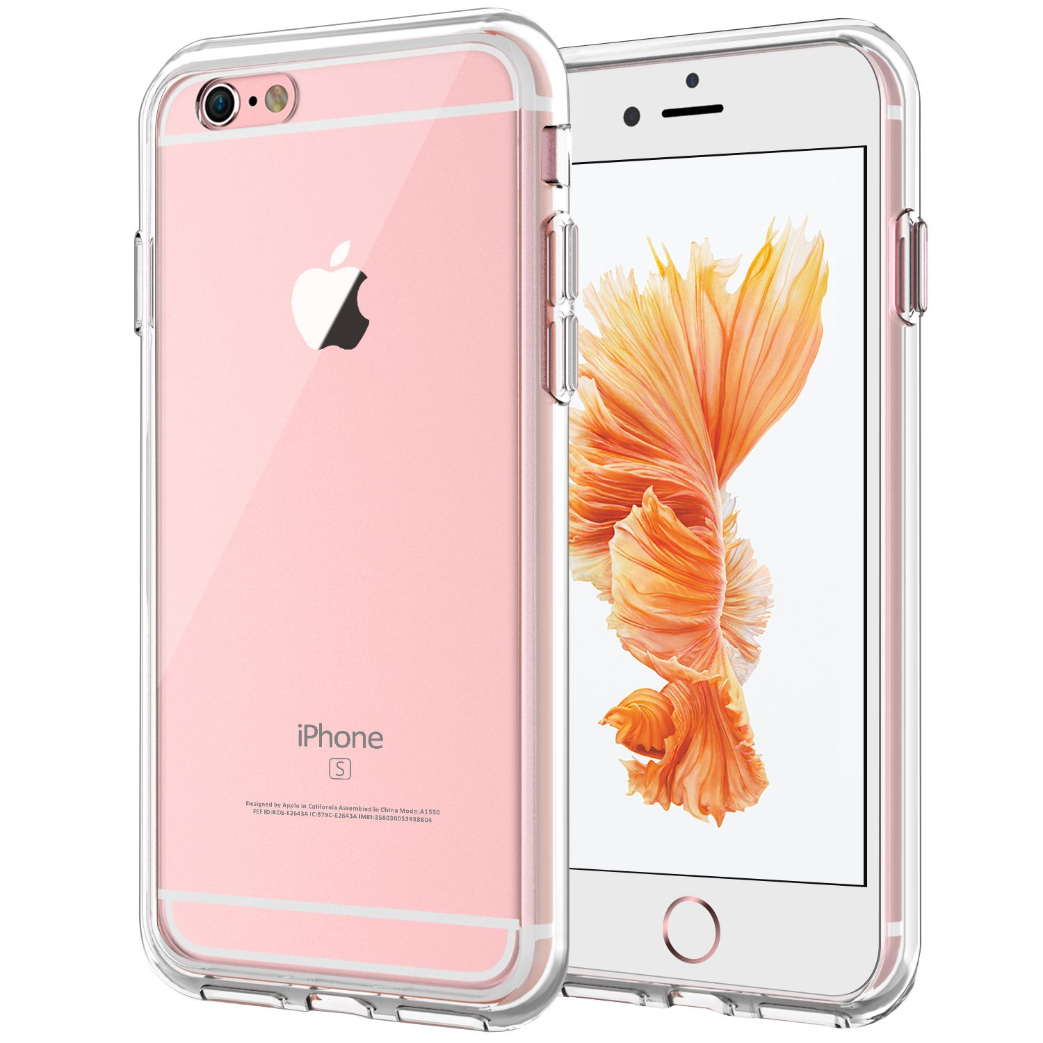 JETech Case for Apple iPhone 6 and iPhone 6s, Shock-Absorption Bumper Cover, Anti-Scratch Clear Back (HD Clear)