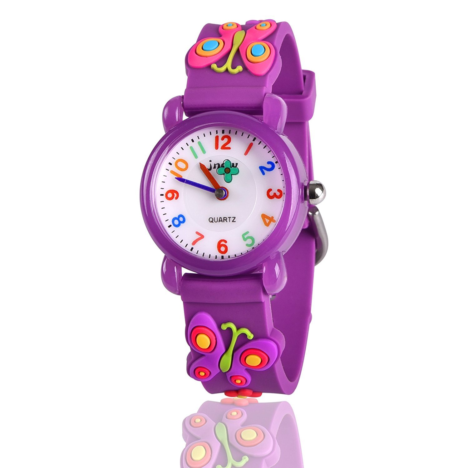 Ouwen 3-12 Year Old Girls Gifts, Unique Design 3D cute cartoon Kids Waterproof Watch Gifts for Girls 3-12 Year Old Toys for 3-12 Year Old Girls butterfly OWUSWC01