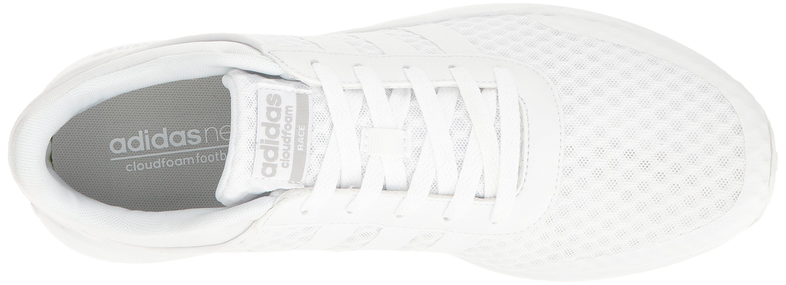 adidas Men's Cloudfoam Race Running Shoe, White/Clear Onix, 9 D-Medium by adidas (Image #8)