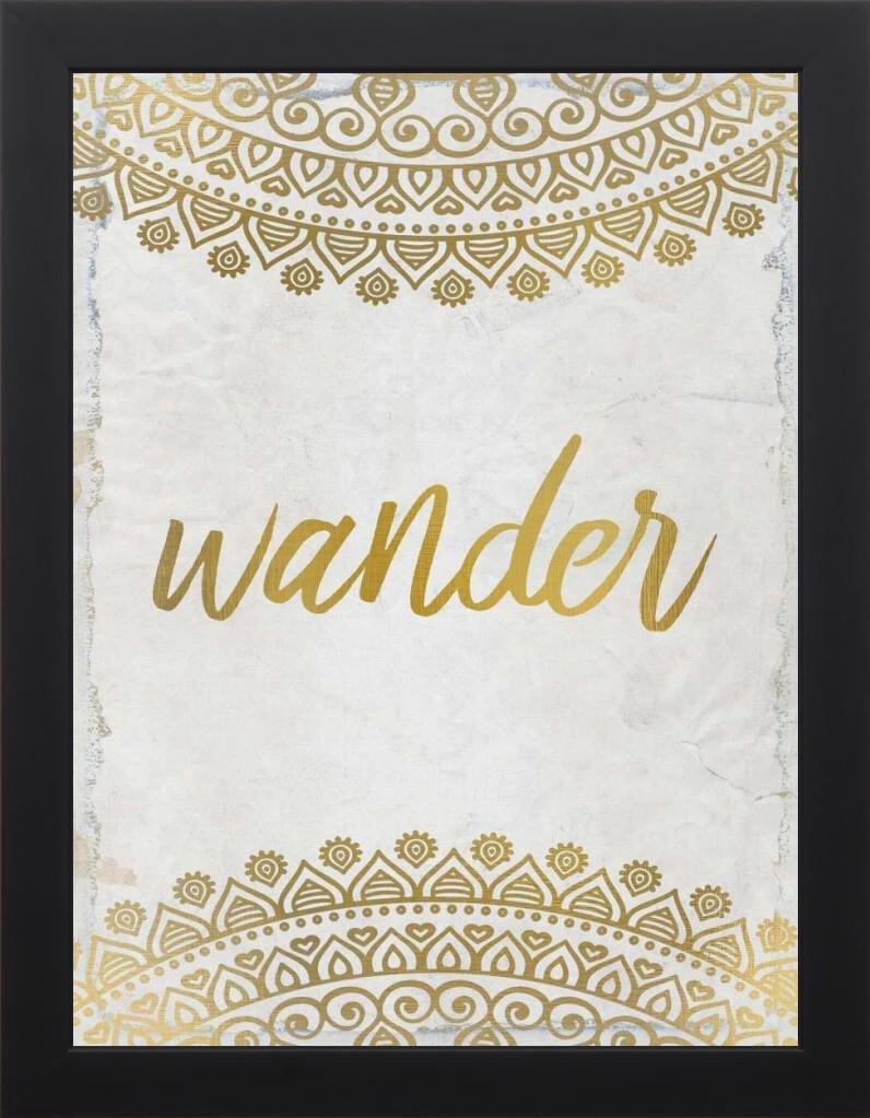 18x24 Wander Henna Gold 2 by Allen, Kimberly: Studio Black KA-RC-241B1