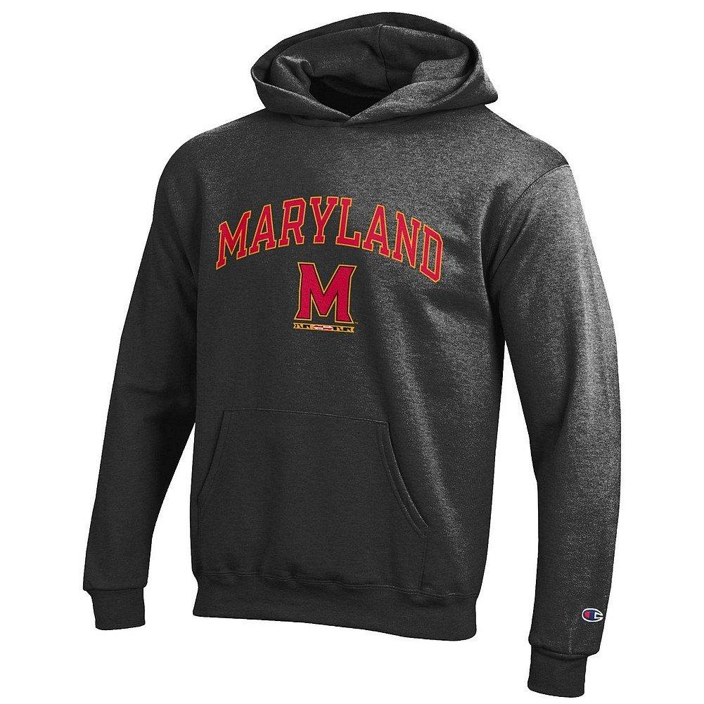 Elite Fan Shop NCAA Kids Hoodie Sweatshirt Dark Heather Arch