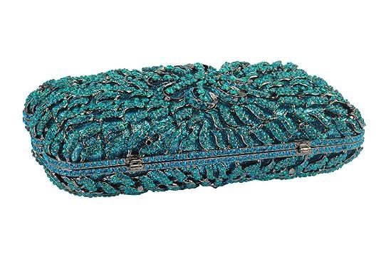 YILONGSHENG La cadena de cristal de las mujeres de baile monederos Embrague(azul): Amazon.es: Zapatos y complementos