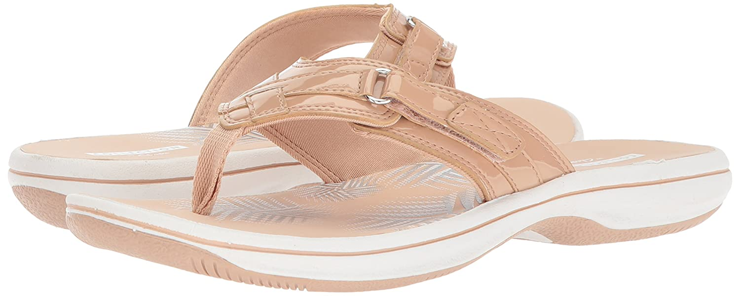 72bcd020ec1 Clarks Women s Breeze Sea Flip Flops  Clarks  Amazon.ca  Shoes   Handbags