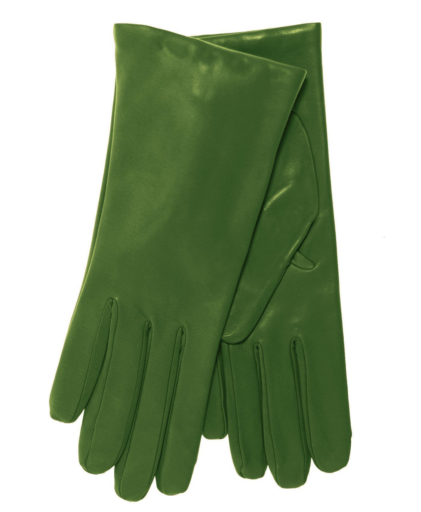 Fratelli Orsini Everyday Women's Italian Cashmere Lined Leather Gloves Size 8 1/2 Color Green